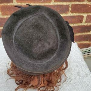 Vintage Accessories - Vintage Frank Olive hat